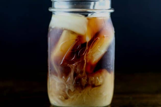 cold brew coffee with creamer