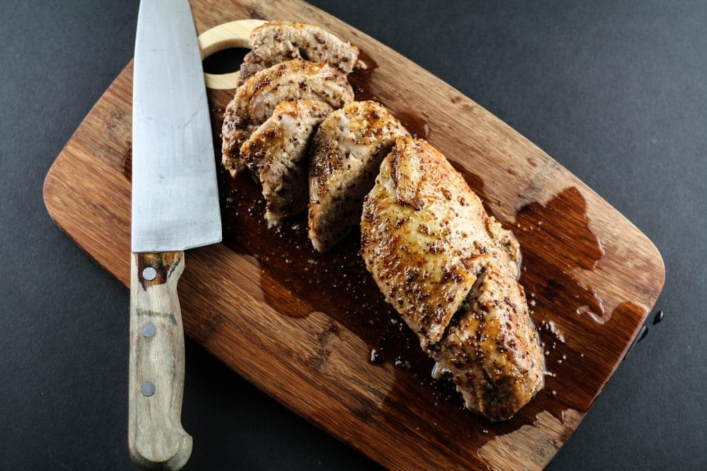 mustard maple glazed pork loin