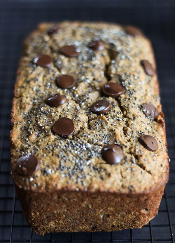 chocolate chip chia banana bread