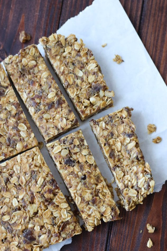 high fiber granola bars