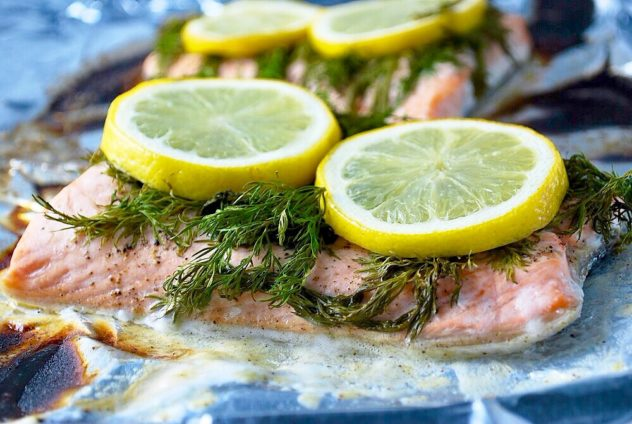 baked lemon dill salmon