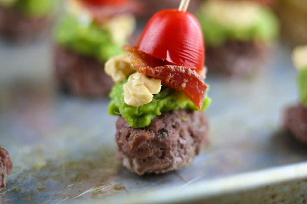 Paleo chipotle mini burgers