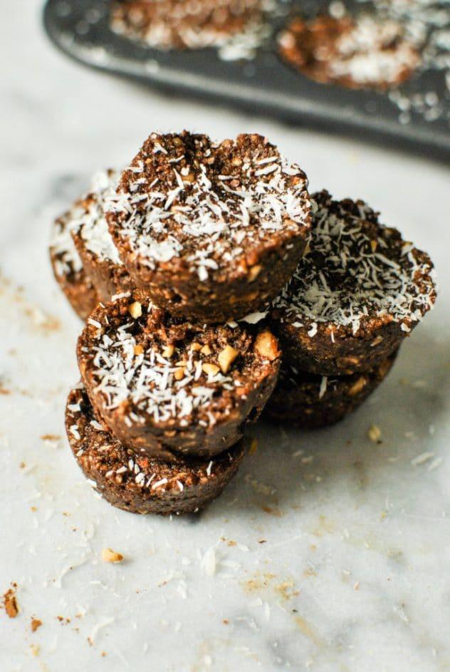 cocoa coconut nut bites