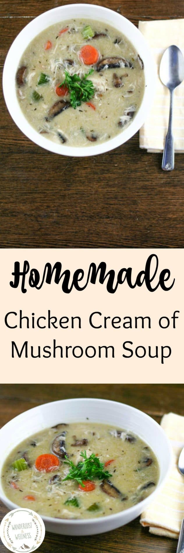Homemade Chicken Cream of Mushroom Soup