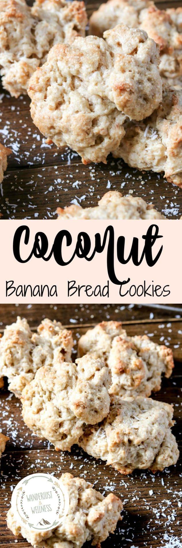 Coconut Banana Bread Cookies